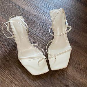 White Zara Kitten Heels
